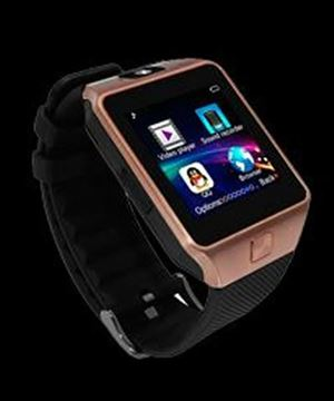 Picture of BRIGHTWRIST SMARTWATCH BLACK BAND/GOLD FACE