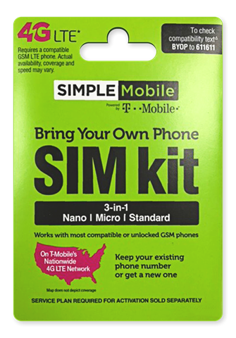 Picture of SIMPLE MOBILE BYOP TRIPUNCH SIM