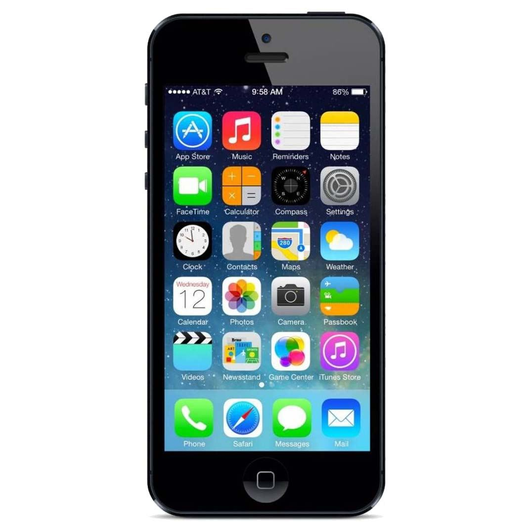 rush star wireless apple iphone 5 16gb black kitted a stock. Black Bedroom Furniture Sets. Home Design Ideas
