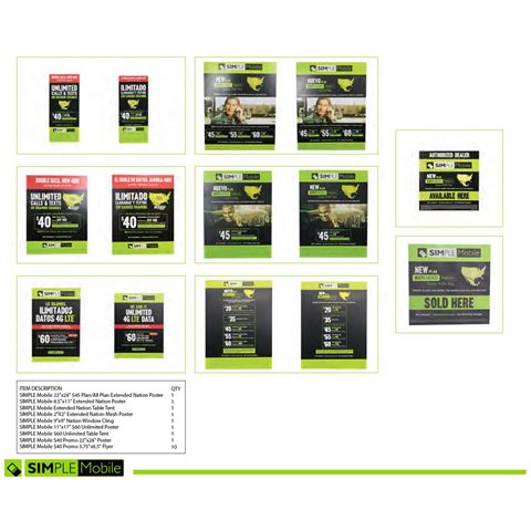 Picture of SIMPLE MOBILE COLLATERAL KIT