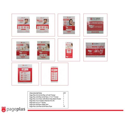Picture of PAGE PLUS COLLATERAL KIT