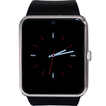 Picture of Rist Tek Smart Watch Black Band / Silver Face